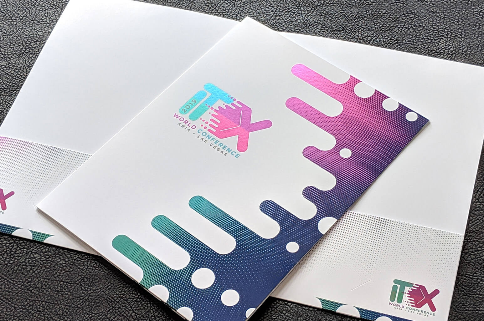 Inline foil folders will not only leave a lasting impression, but they also allow for cohesive branding across all of your print marketing materials.