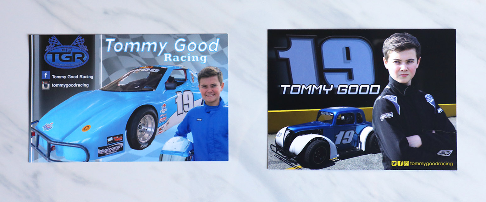 Tommy Good recently moved up to racing Legends cars, and he needed a new design for the upcoming season.
