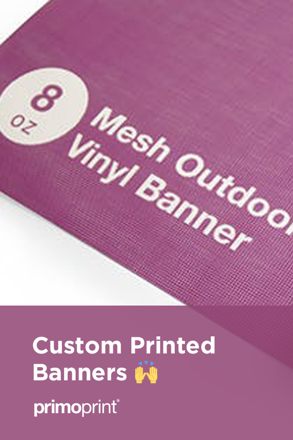 We now offer premium custom indoor and outdoor vinyl banners!