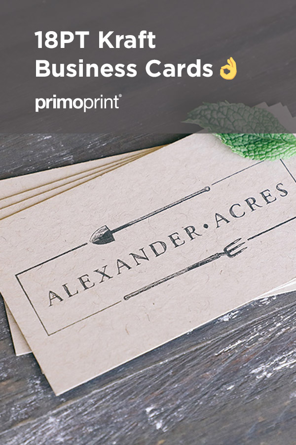 New 18PT Kraft Paper stock. The uncoated finish provides superb print quality, and it's 30% recycled, giving it a warm and rustic eco-friendly appeal.