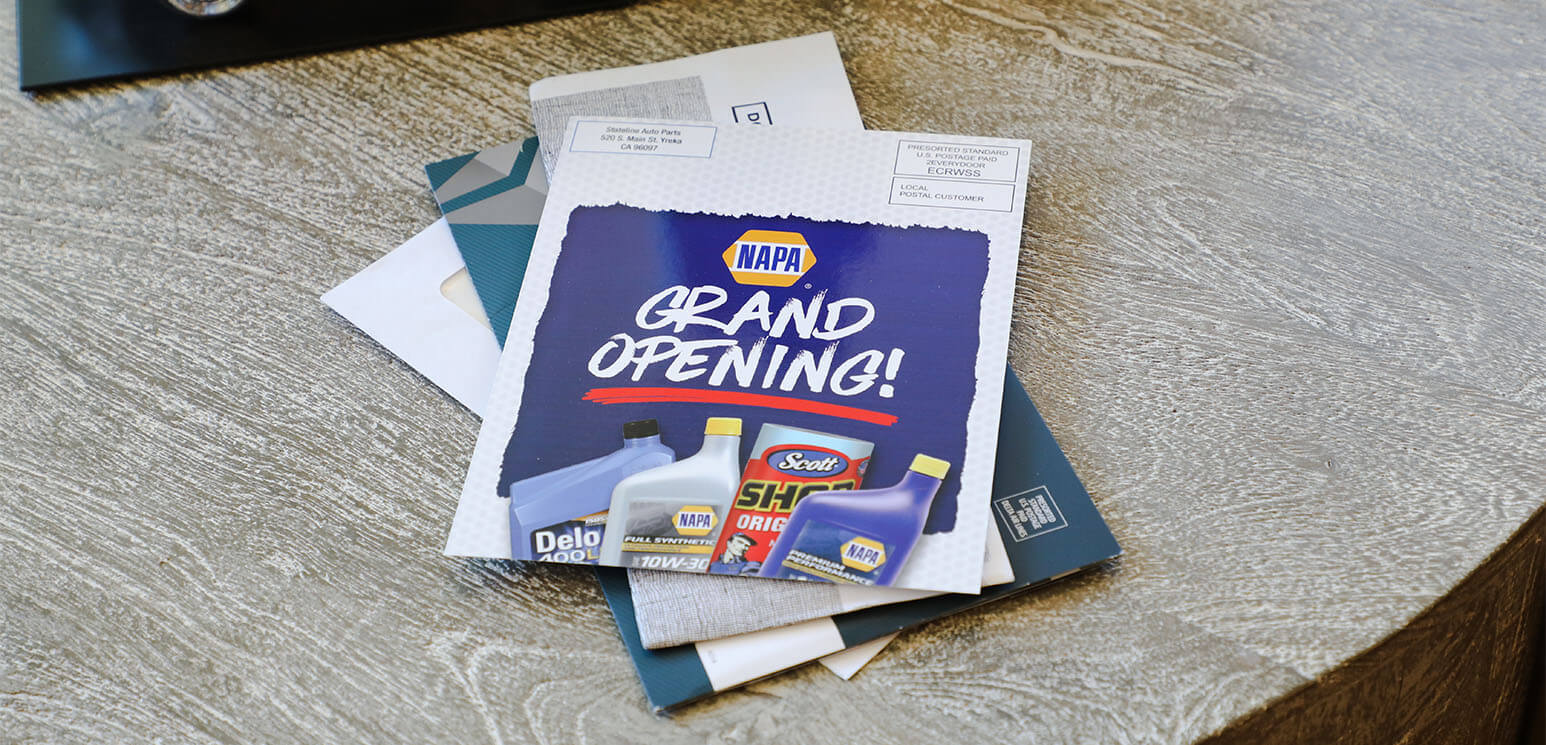 Reach potential customers with EDDM® postcards about your business Grand Opening.