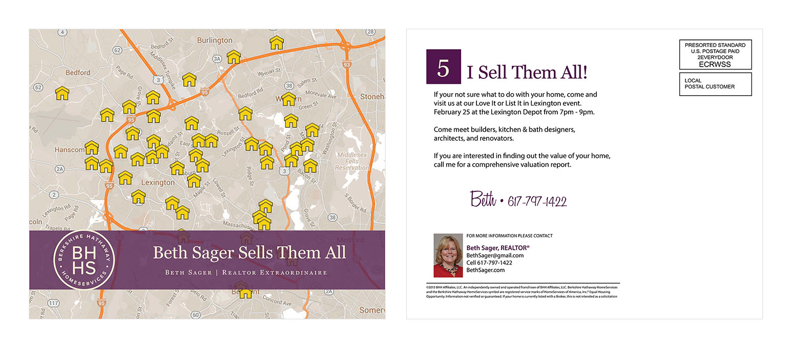 Here is a Realtor EDDM® Postcard design created by one of our in-house designers.