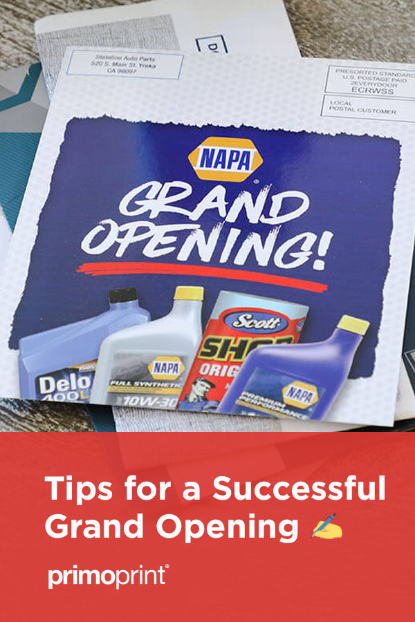 Learn how to make your Grand Opening a success.