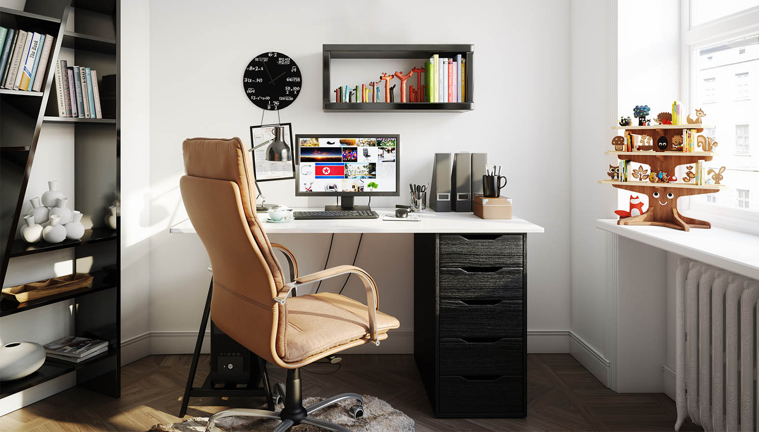 Having a professional and cozy workspace at home can be beneficial.