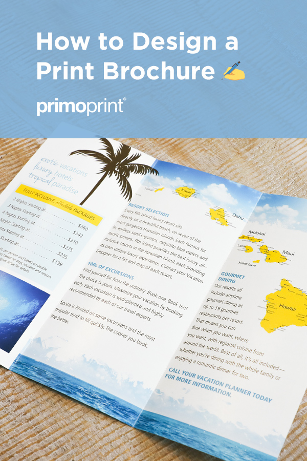 Learn how to design an effective brochure.
