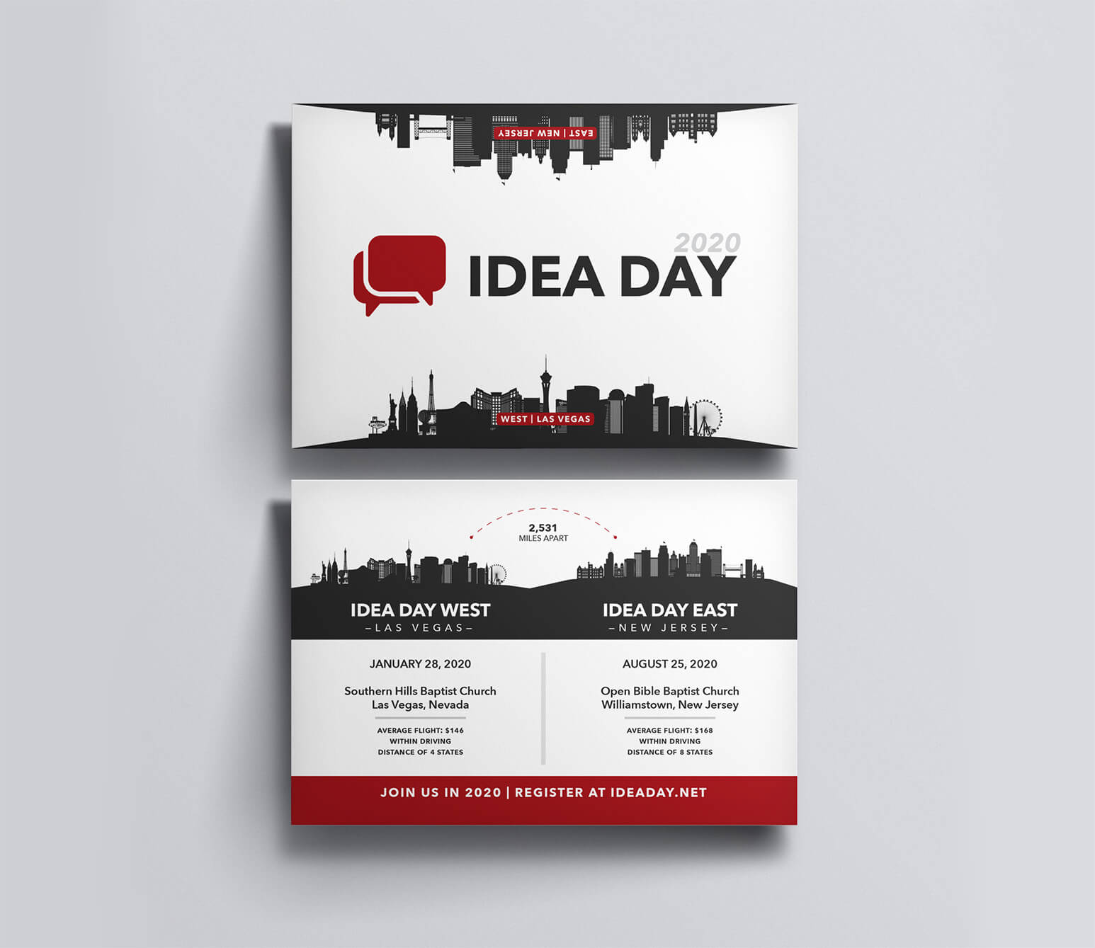 Idea Day Postcard designed by Stephen Houk Designs.