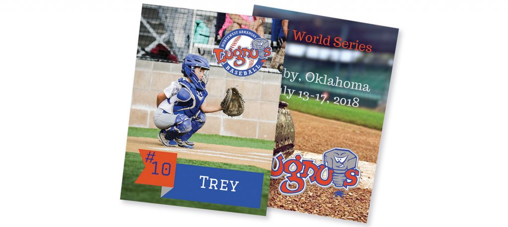 Custom baseball cards create a keepsake of the season they spent playing with their fellow teammates.