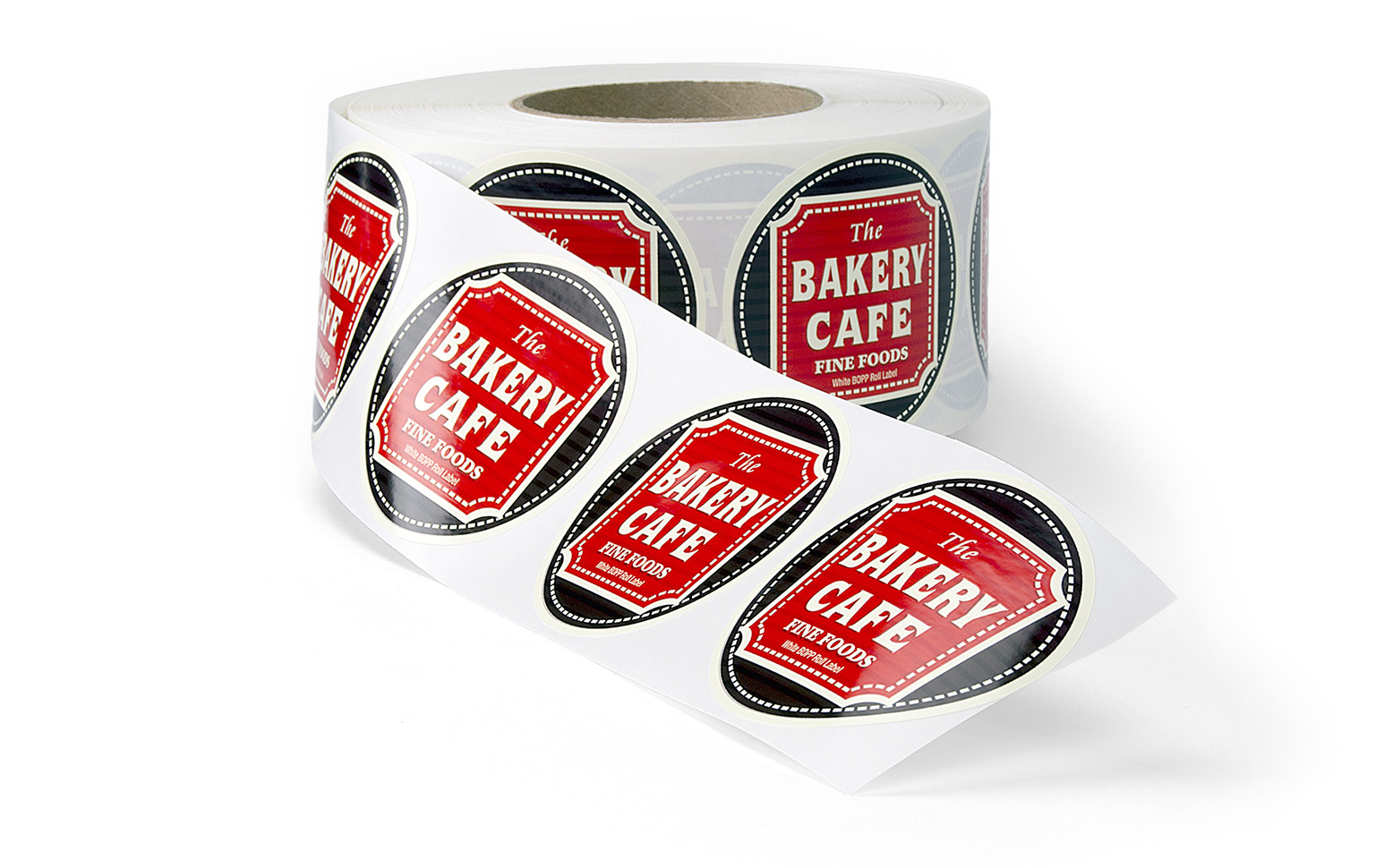 This is a BOPP Roll Label for a Bakery