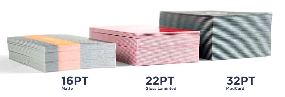 We offer a large selection of paper thickness for your business cards.