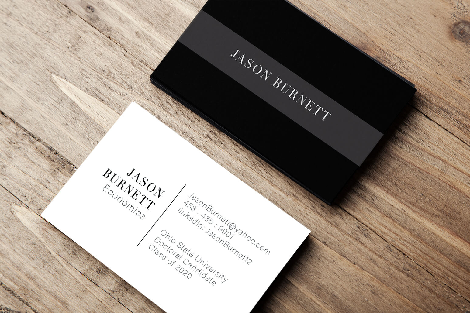College student business cards are perfect for  personal branding.