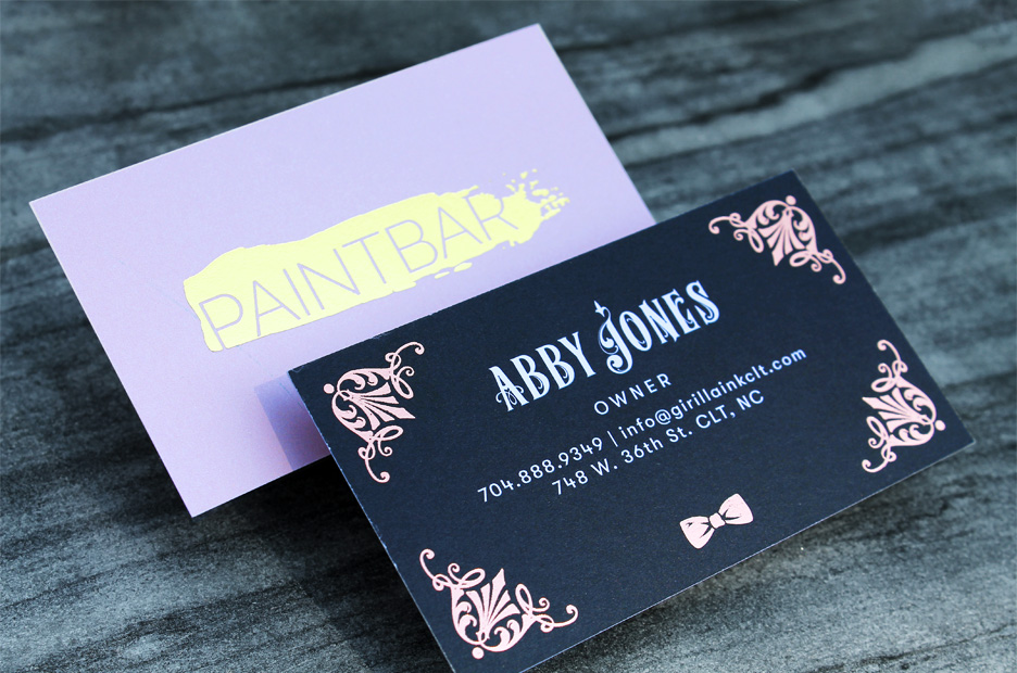 Rose Gold Stamped Foil vs. Gold Stamped Foil