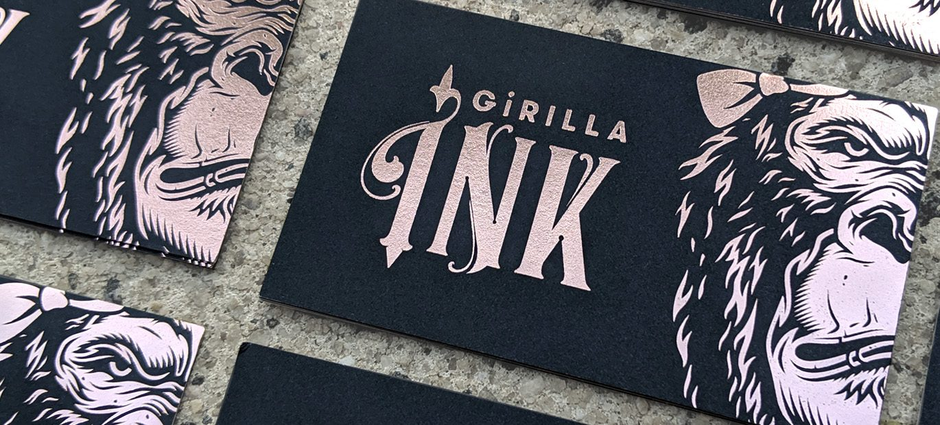 Primoprint is excited to offer Rose Gold Stamped Foil. Available on Silk or Uncoated Business Cards.