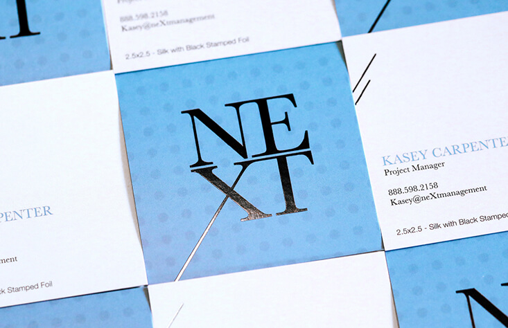 Show off your personality by being unique with square business cards.