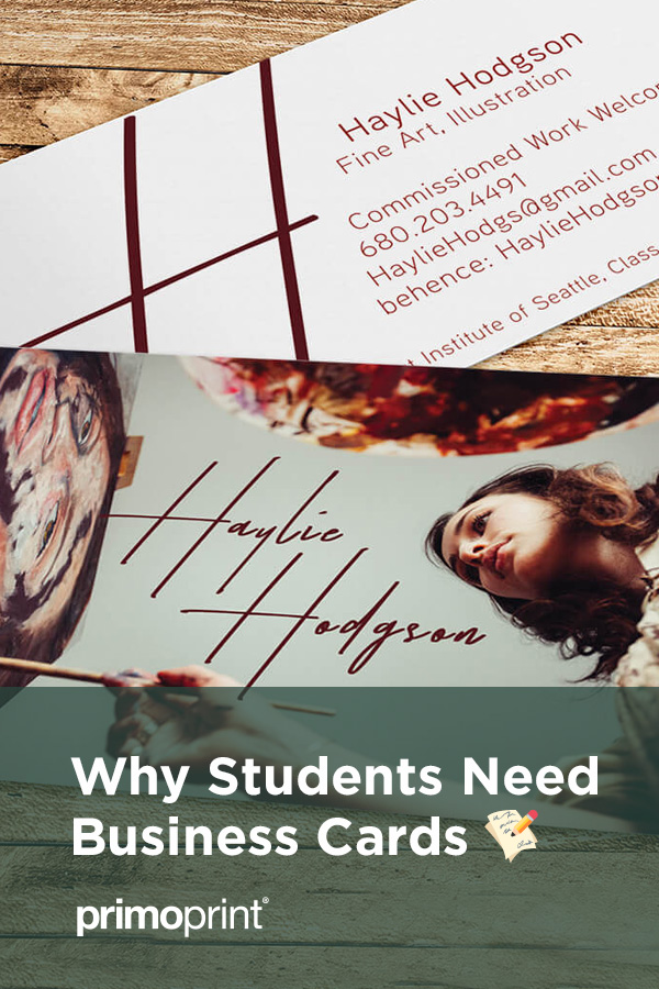 We've listed a few benefits of having student business cards.