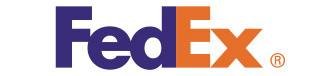 FedEx is probably one of the most well-know logos.