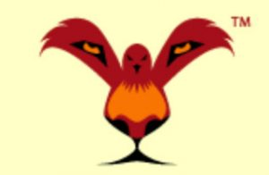 The logo simultaneously transmits the singular image of a lion and a bird.