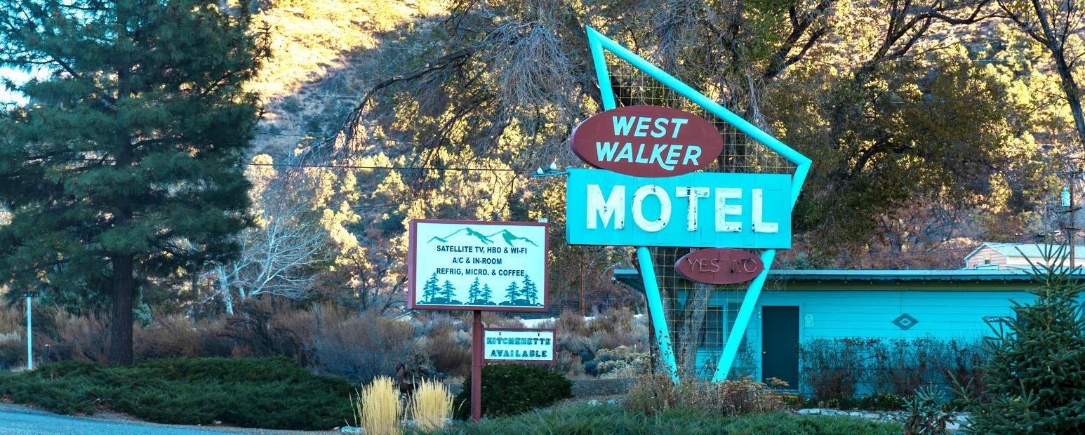 West Walker Motel vintage sign.