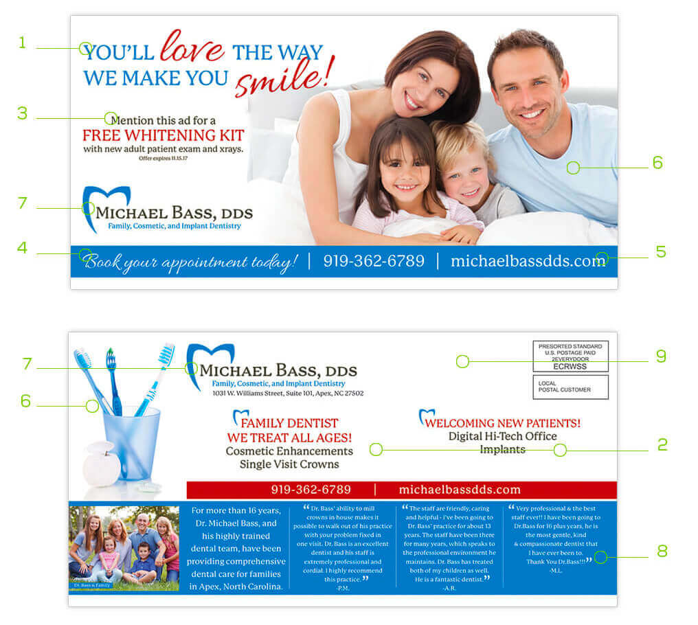 This EDDM® image offering helpful tips and requirements for a successful postcard design
