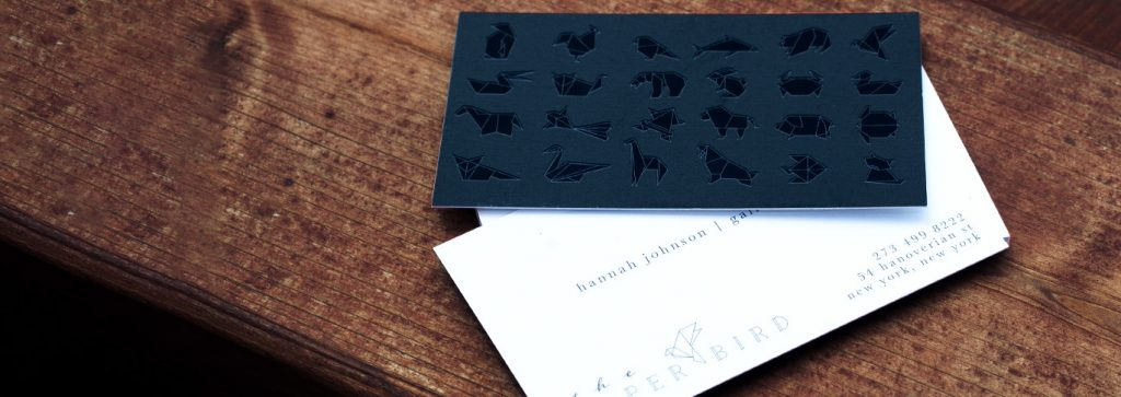 Selecting your next set of business cards
