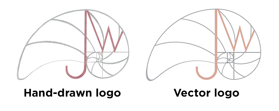 You can see the hand-drawn logo created as a vector logo.