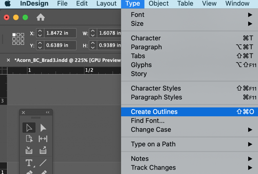 Learn how to outline fonts using Adobe InDesign