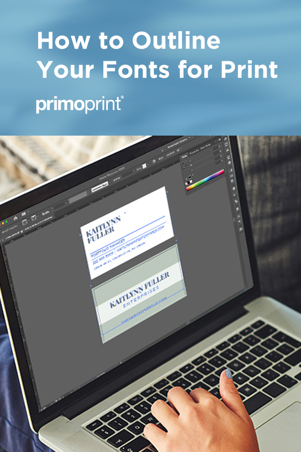 Learn how to outline fonts for print by using the following programs; Adobe Photoshop, Adobe InDesign, and Adobe Illustrator.
