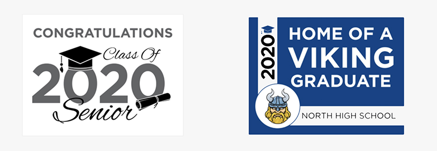 Use our free yard sign templates to celebrate your recent graduate.