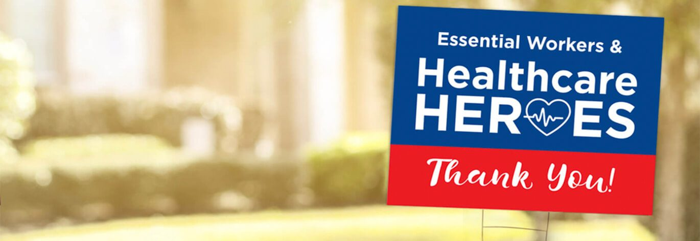 Show your support with yard signs. Choose from a variety of sign templates.