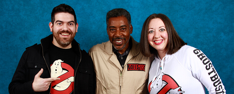 John DiBiase with Ernie Hudson, from Ghostbusters II.