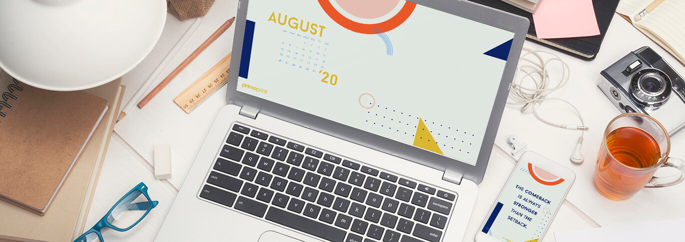 Primoprint Design: August Digital Wallpaper