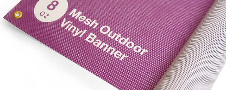 Get noticed with a premium outdoor mesh banner.