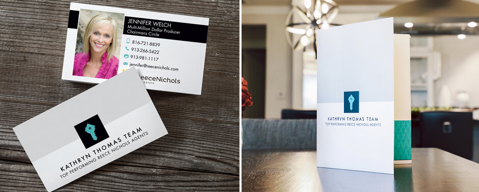 A great way to market your Real Estate properties can be done with business cards and brochures.