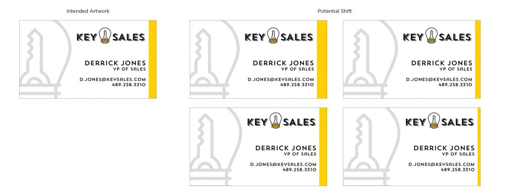 Examples of how a business card file may shift.