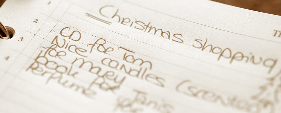 Create a holiday strategy that will work.
