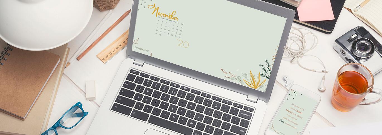 Download our free November digital wallpaper for your desktop or smartphone.