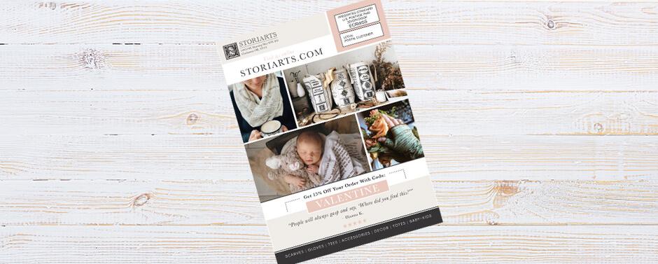 The back EDDM® design for StoriArts postcard