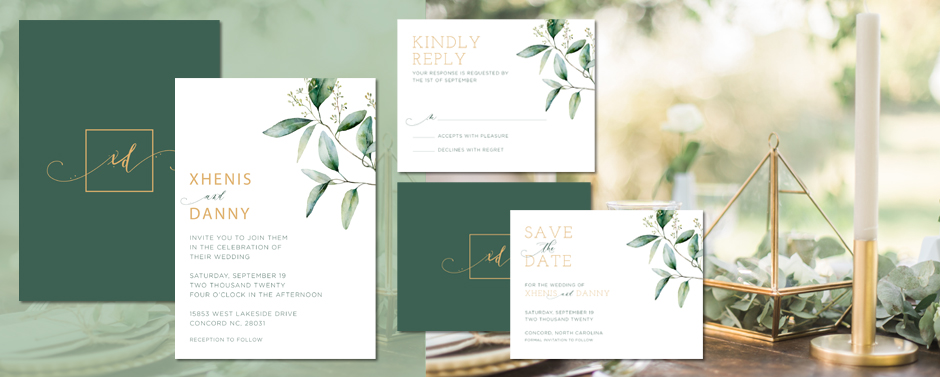 Use beautiful color combination to enhance the look of your invites.