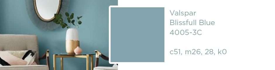 Valspar Blissful Blue; c51, m26, 28, k0