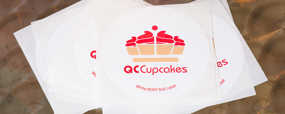 Having stickers or roll labels are a must for a new business.