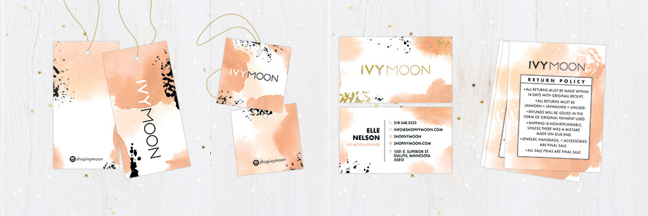 Custom printed products for IvyMoon