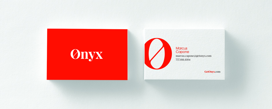 Onyx provides a great example of how a simple design can be the most powerful.