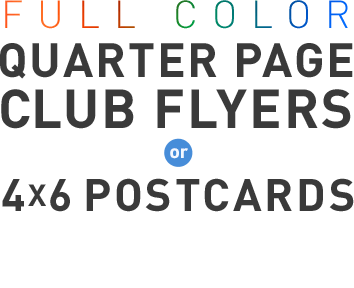 Full Color Club Flyers