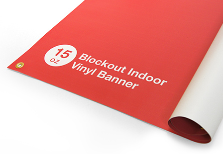 15oz Blockout Indoor Vinyl Banners