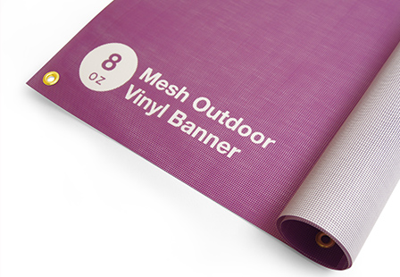 8oz Mesh Outdoor Vinyl Banners