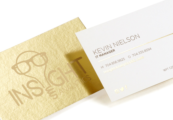 Inline Foil Business Cards