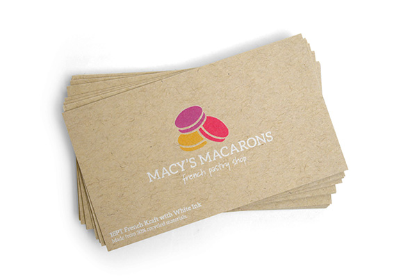 18PT French Kraft Business Cards
