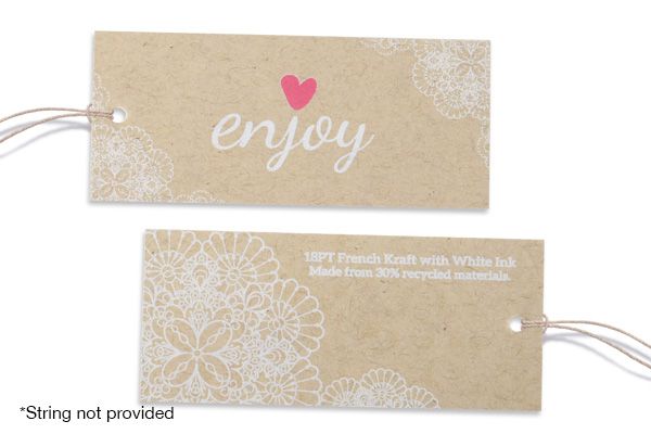 18PT French Kraft Hang Tags
