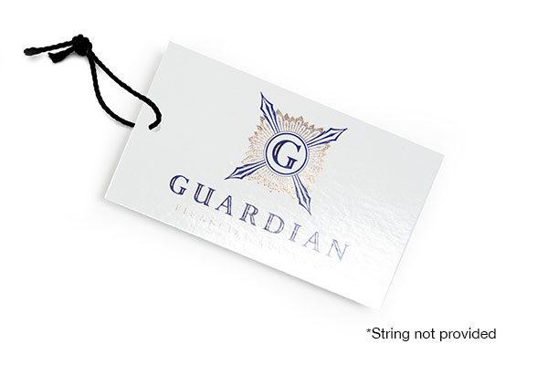 Glossy UV Coated w/ Inline Foil Hang Tags