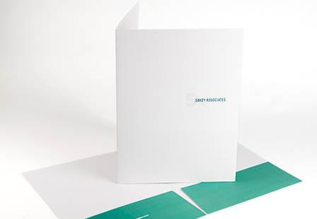 14PT Uncoated Presentation Folders