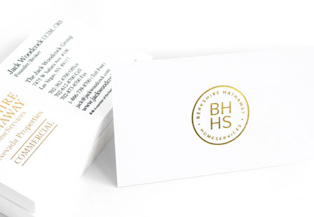 14PT Uncoated w/ Stamped Foil Business Cards